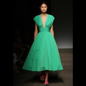 Anthropologie Tracy Reese Parted Emerald Dress